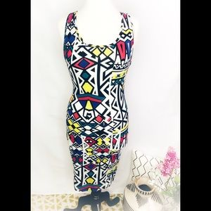 forever 21 graphic bodycon dress BNWT